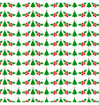 christmas pattern with tree and cherries vector image