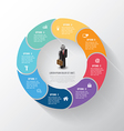 circle info-graphic step with business man icons vector image vector image