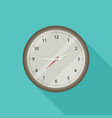 clock icon flat style with long shadow vector image vector image