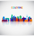 cologne skyline silhouette in colorful geometric vector image vector image