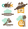 cooking classes or school kitchenware and cutlery vector image vector image