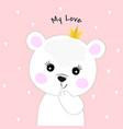 cute cartoon bear princess vector image vector image