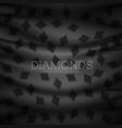 diamond symbol dark pattern background vector image