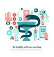 digital medicine flat vector image