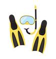 diving equipment elements set vector image