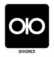 divorce symbol vector image