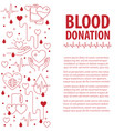 donation blood template vector image vector image