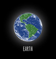 earth planet earth sketch hand drawing vector image