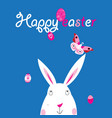 easter bright card with rabbit vector image