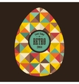 Easter egg in retro style vector image vector image