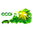 eco friendly car in modern vector image