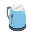 Electric kettle icon isometric 3d style vector image vector image