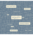EQUITY vector image vector image