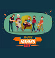 fathers day poster vector image vector image