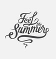 feel summer calligraphic retro inscription vector image vector image