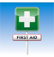 First aid traffic sign vector image vector image