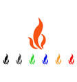 flame icon vector image vector image