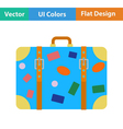 Flat design icon of suitcase vector image vector image