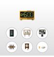 flat icon life set of boardroom electric alarm vector image vector image