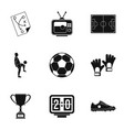 football icons set simple style vector image vector image