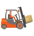 Forklift truck sign vector image vector image