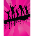grunge party girls vector image
