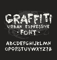 handwritten brush font with shabtexture vector image vector image