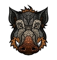 Head of boar mascot color in mosaic style vector image vector image