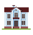 house facade blue flat residential hous houses vector image