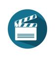 icon clapperboard movie design vector image