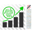 iota trend up chart flat icon with bonus vector image vector image