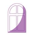 isolated window cartoon vector image vector image
