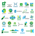 large collection of logos window vector image vector image