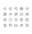 Line 360 Degree Icons vector image
