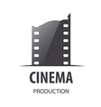 logo for videotape film production vector image vector image
