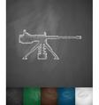 machine gun icon vector image vector image