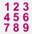 Number Set vector image vector image