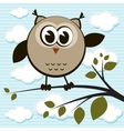 Owl on the tree vector image vector image