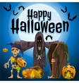 Participants of a holiday Halloween vector image vector image