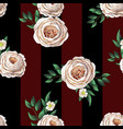 peachy english roses seamless pattern vector image vector image