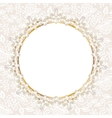 pearl frame on white lace background vector image vector image
