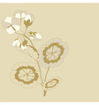 Pelargonium branch vector image