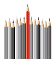 pencils leadership concept vector image
