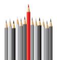 pencils leadership concept vector image vector image