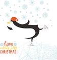 penguin skate vector image