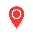 pin map icon in flat style gps navigation on vector image