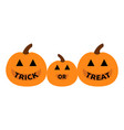 pumpkin family mother father bahappy halloween vector image