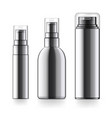 realistic black cosmetic bottle can sprayer vector image