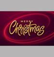 realistic shiny 3d golden inscription merry vector image vector image