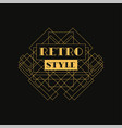 retro style logo design luxury vintage geometric vector image